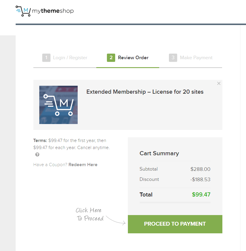 mythemeshop payment page