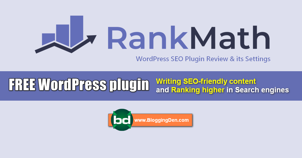 Rank math wordpress SEO plugin and settings