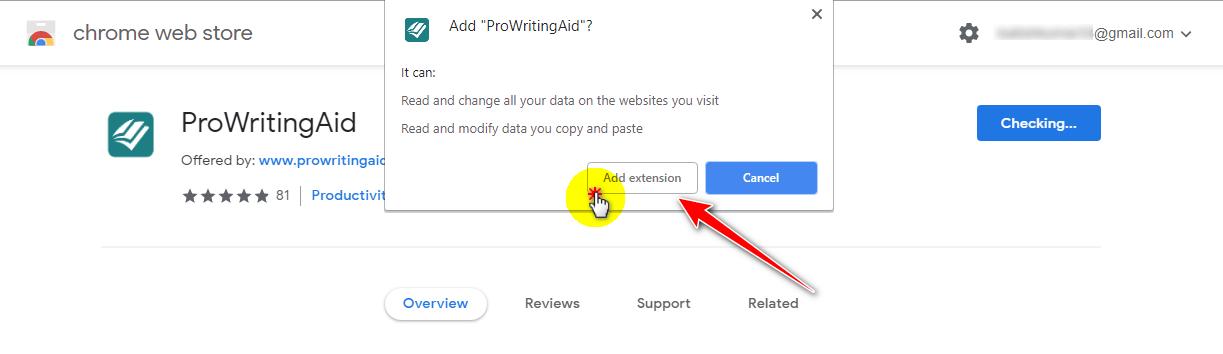 add prowritingaid extension