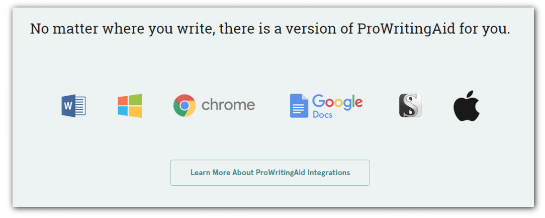 Integration extensions of ProWritingAid