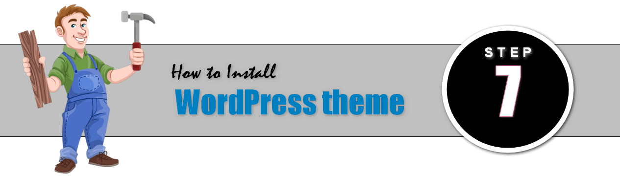 Step 7: How to Install theme in Your New WordPress Blog