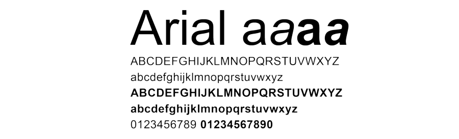 arial fonts new