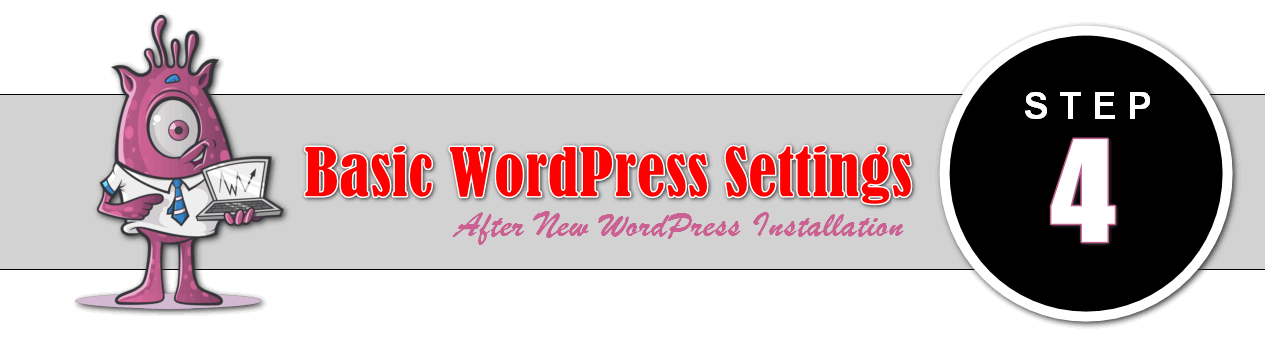 basic WordPress settings