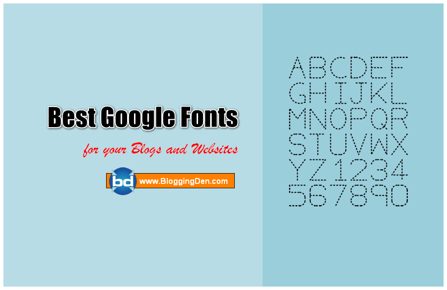 best google fonts for websites and blogs
