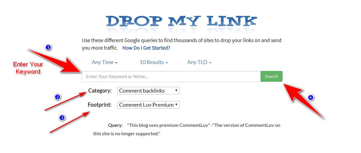 dropmylink service