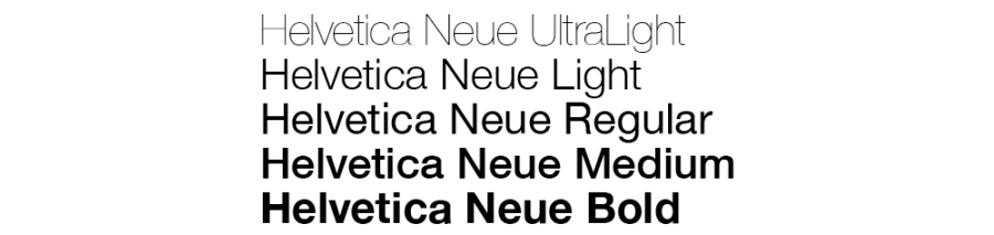 helevetica neue ultralight