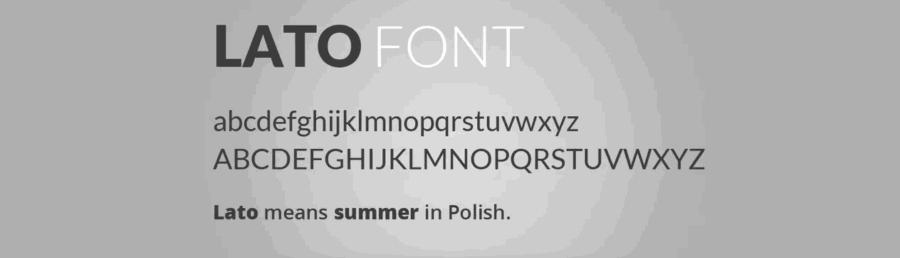 lato fonts
