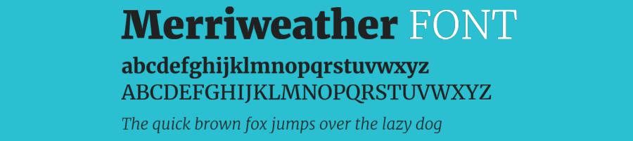 merriweather fonts