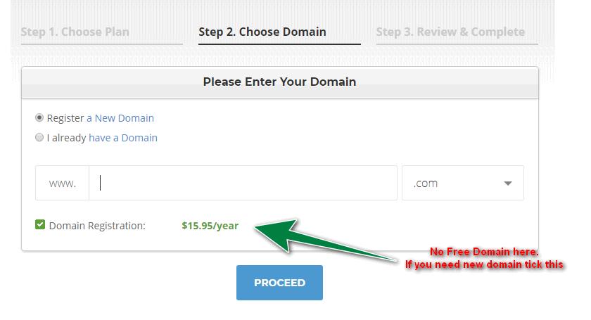 step 2: no free domain