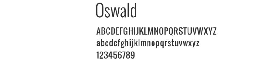 oswald fonts