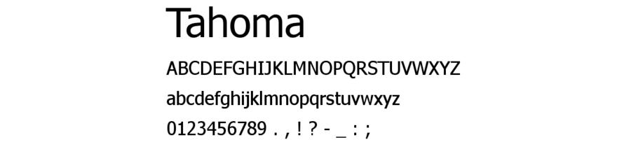 tahoma fonts