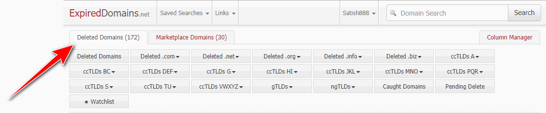 recent expired domains list