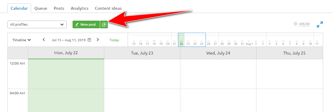 create new post for scheduling
