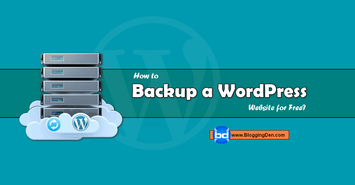 how to backup a wordpress website