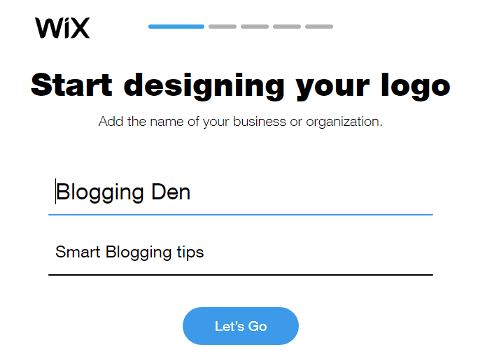step 1: Start designing your logo
