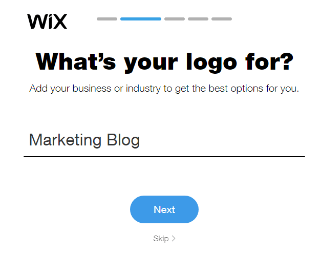 step 2: What's your logo for?