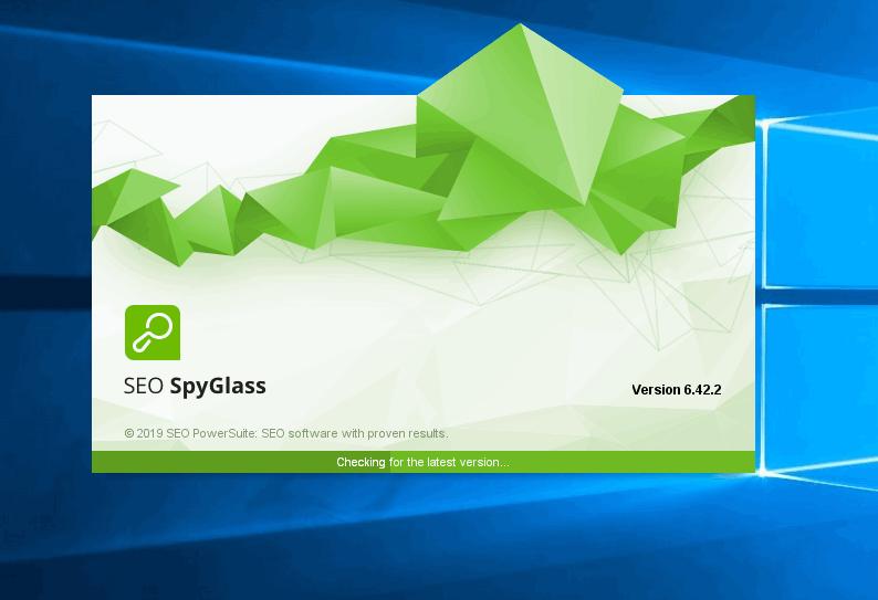 SEO SpyGlass initiation