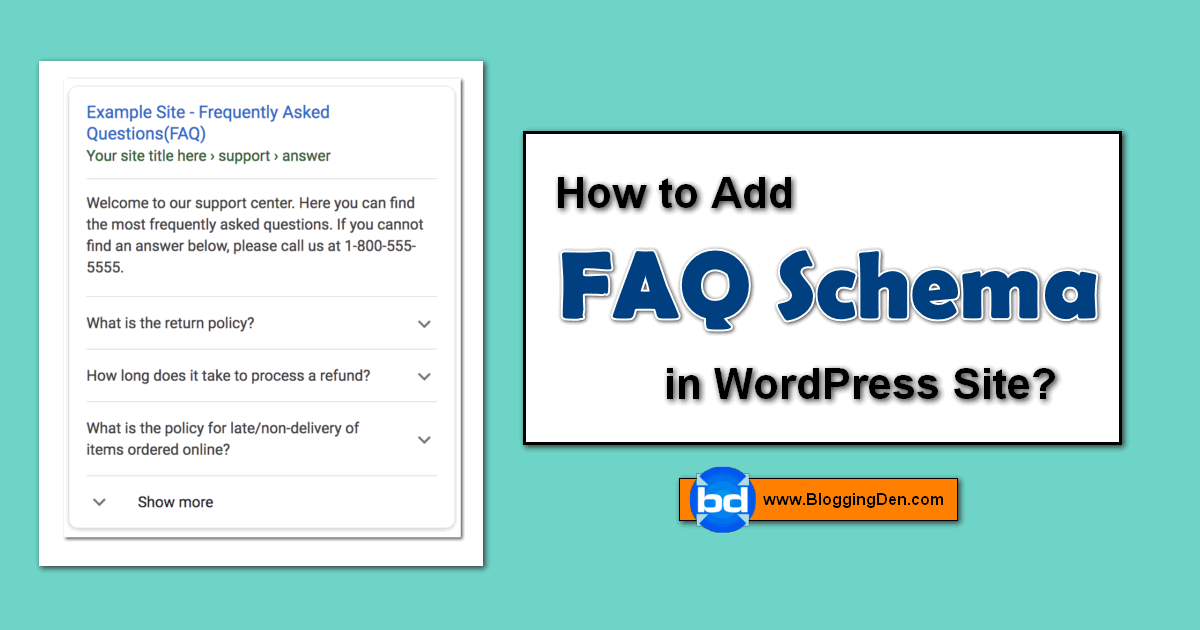 How to add FAQ Schema in WordPress site