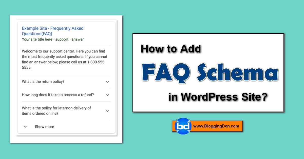 How to add FAQ Schema in WordPress site