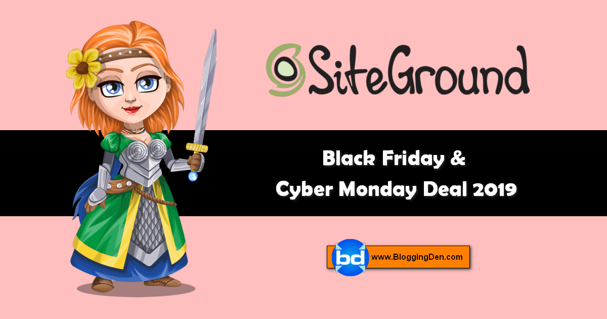 Siteground black friday and cyber monday sale