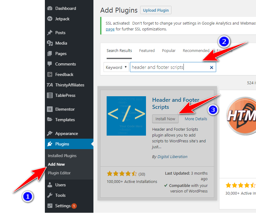 header and footer scripts plugin
