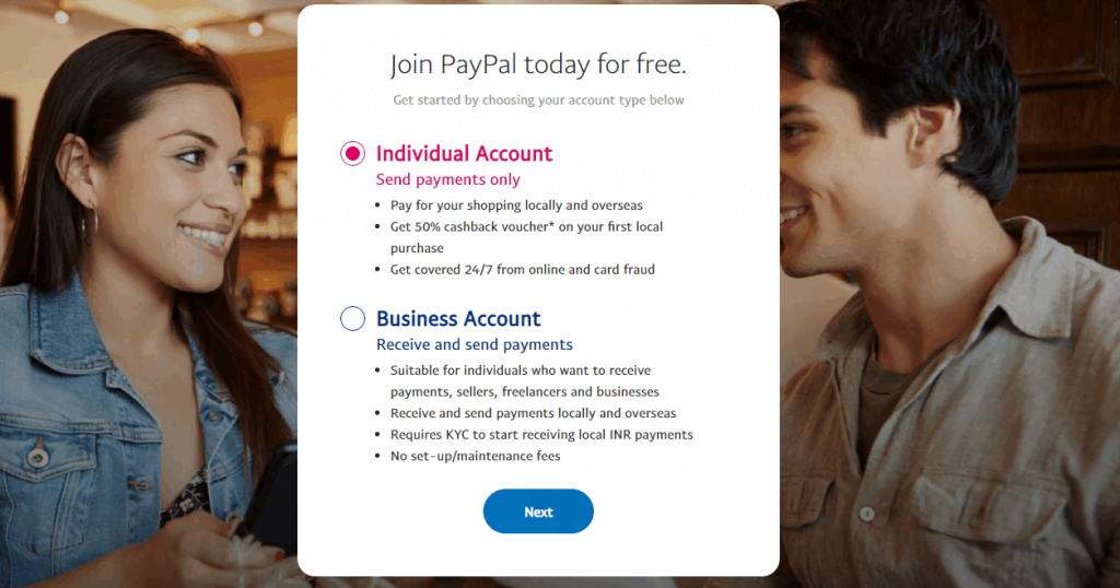 Join Paypal account today