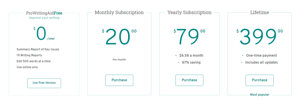 prowritingaid new pricing plans final