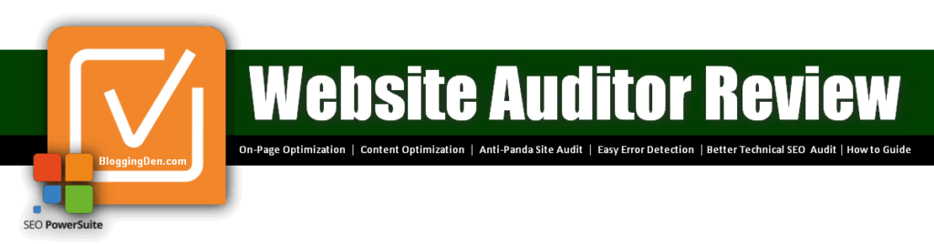 Website auditor review for site audit