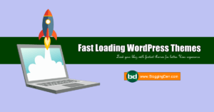 fast loading wordpress themes
