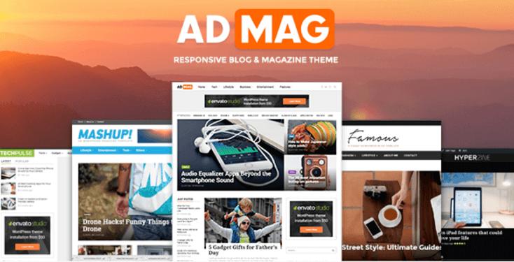 AdMag PRemium WordPress theme