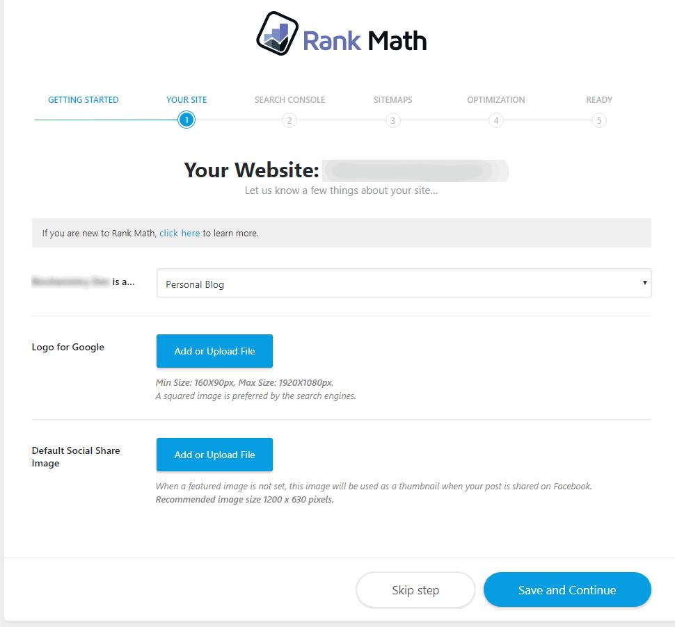 Your site details