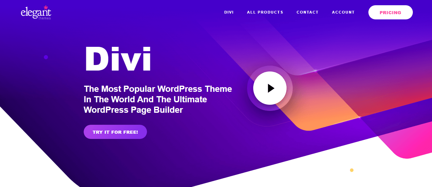 divi theme homepage