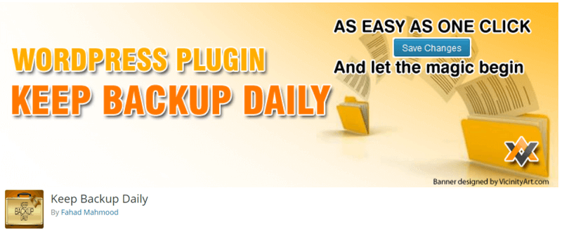 keep backup daily plugin
