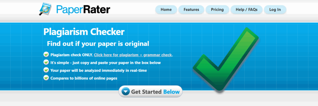 paper rater plagiarism checker