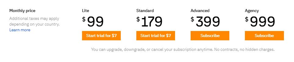 ahrefs prices