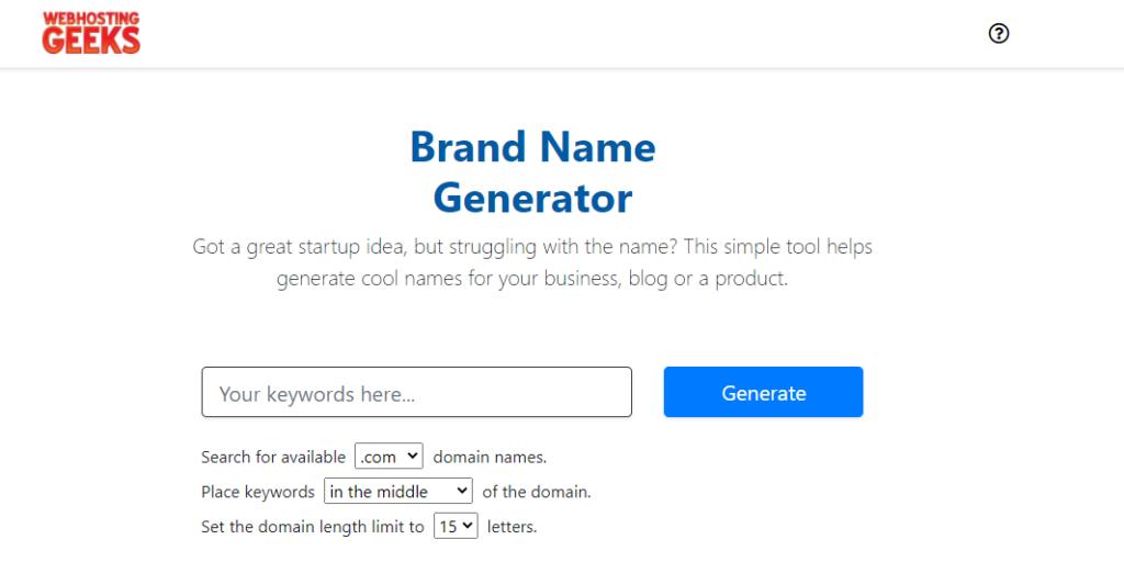 brand name generator