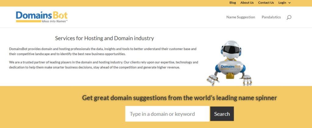 domainsbot - ideas into names