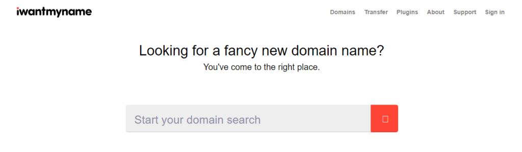 i wantmyname - favorite domain name generator