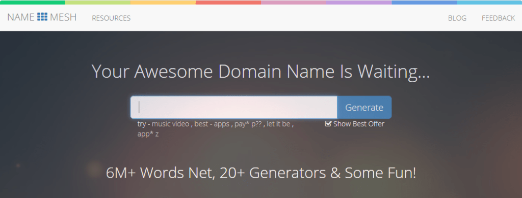 NameMesh - Domain Name Generator For Perfectionists