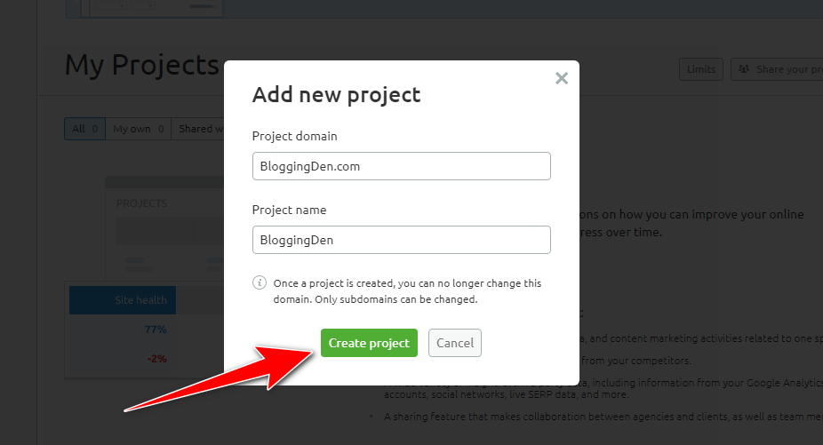 add project details