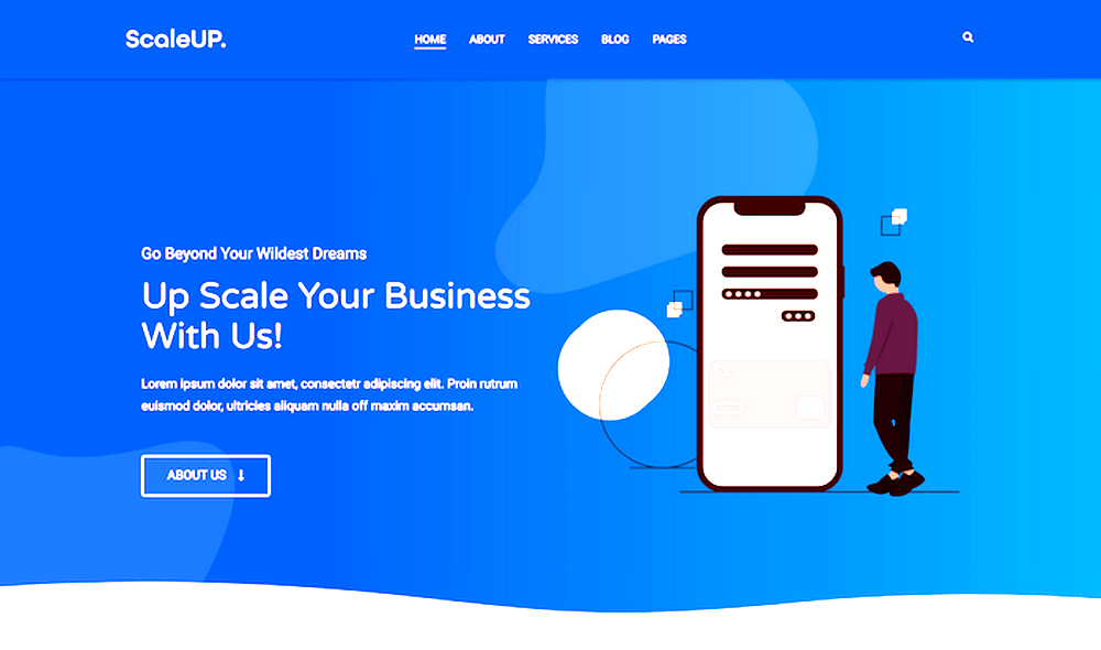 scaleup business wordpress theme