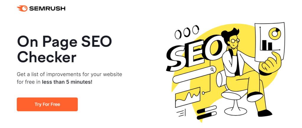 semrush on page seo checker tool