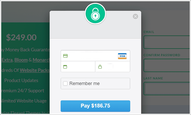 add payment details