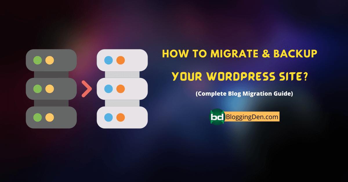 How to migrate WordPress data
